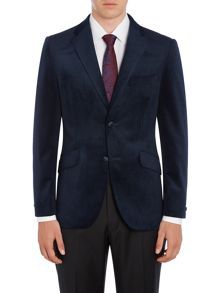 Howick Tailored Bakersfield Notch lapel twill velvet blazer