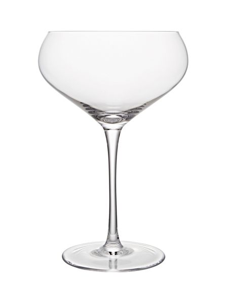Linea Sienna crystal champagne saucer set of 6