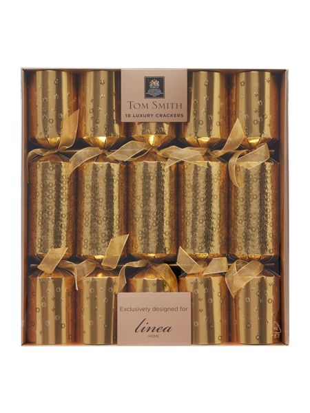 Linea Pack of 10 gold star crackers