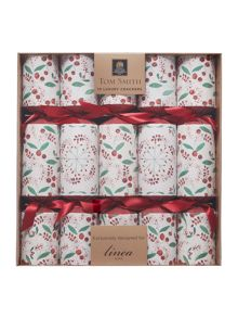 Linea Pack of 10 `tis the season berry crackers