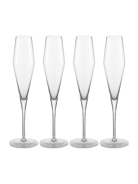 Casa Couture Claudia crystal flute set of 4