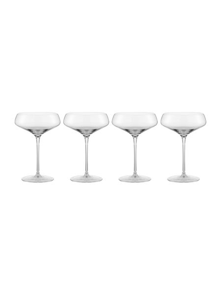 Casa Couture Claudia crystal champagne saucer set of 4