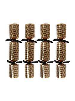 Pack of 10 Black & Gold peacock crackers