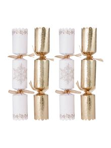 Linea Pack of 6 Acorns & Snowflakes crackers