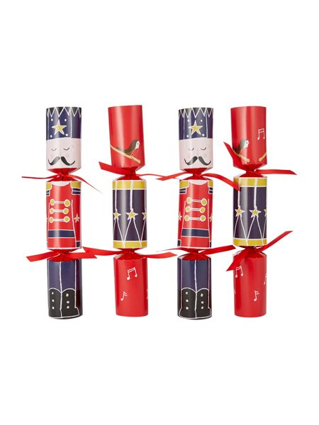 Linea Pack of 6 Red family photo fun crackers