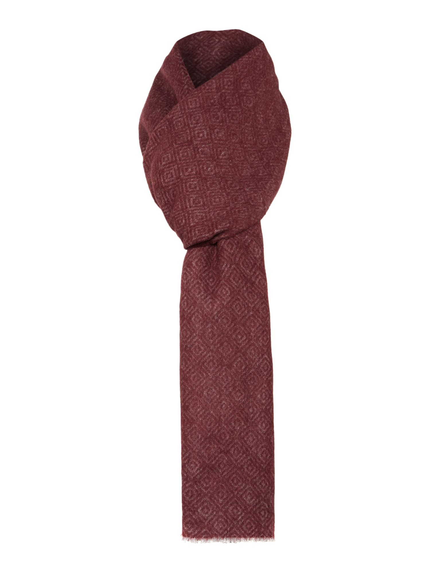 Ted Baker Mayfair Geo Print Scarf Dark Red