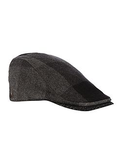 Peakz Speckled Checked Flat Cap