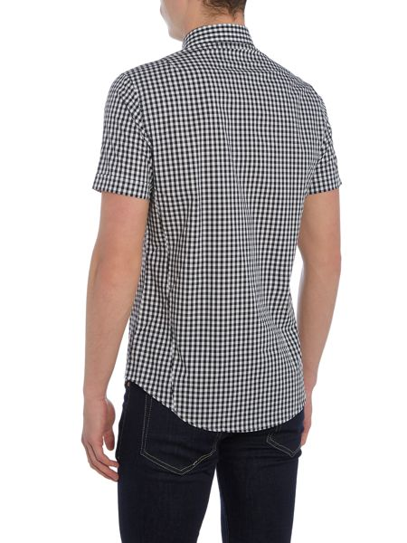 Religion Insight regular fit short sleeve gingham shirt