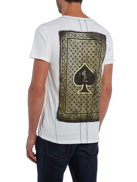 Religion Regular fit playing card printed t shirt