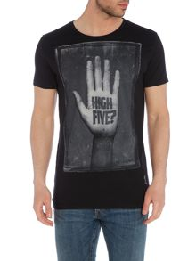 Religion Regular fit high five printed t shirt