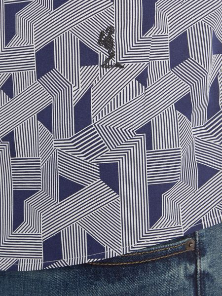 Religion Optic regular fit geo stripe print shirt