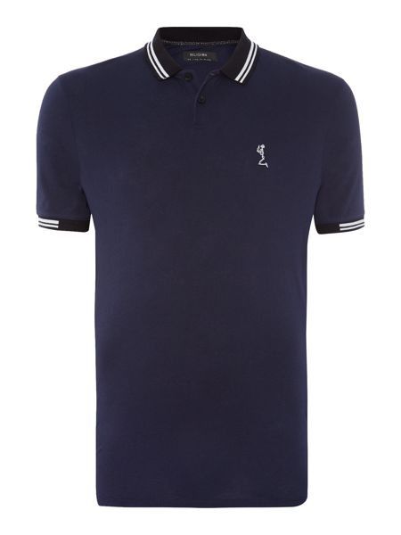 Religion Regular fit tipped collar logo polo shirt
