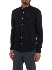 Religion Behead regular fit granded collar western shirt