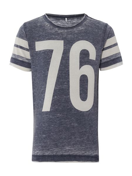 name it Boys Shortsleeve 76 Faded T-Shirt