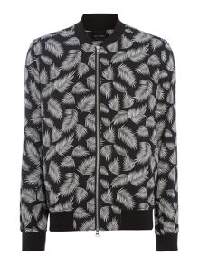 Religion Haw feather print lightweight bomber jacket