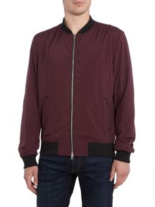 Religion Spaced zip through lightweight bomber jacket
