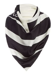 Lulu Guinness Taped face silk square scarf