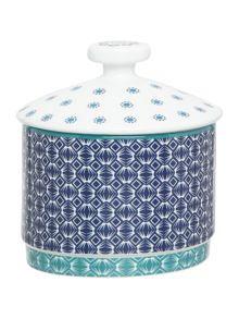 Ted Baker Langdon Blue Covered Sugar Bowl
