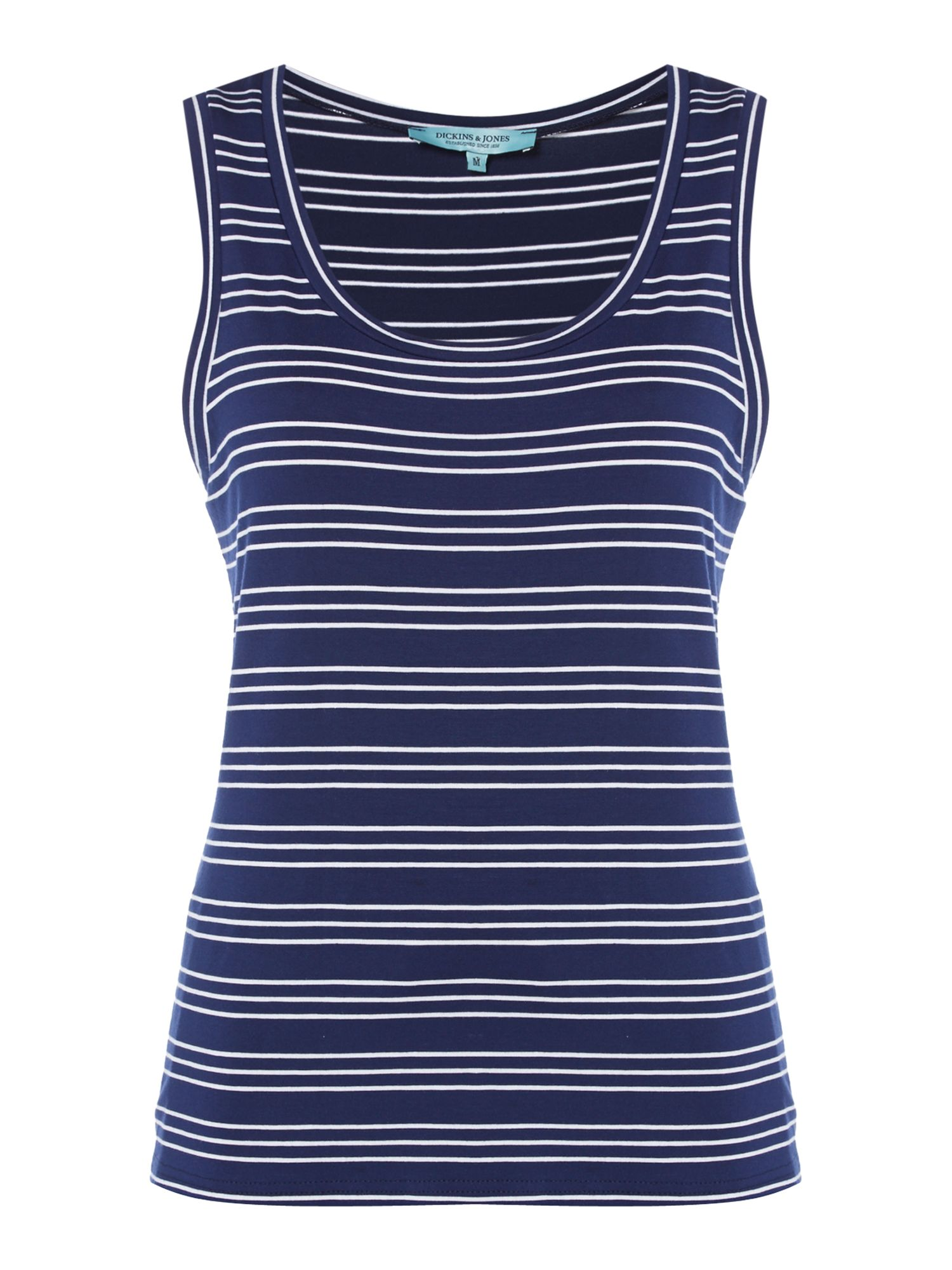 Dickins & Jones Stripe Beach Vest, Navy