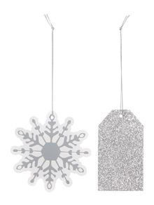 Linea Set of 8 Snowflake & Glitter Gift Tags