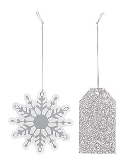 Set of 8 Snowflake & Glitter Gift Tags
