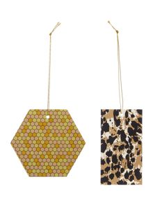 Linea Set of 8 Leopard print & Sequins Gift Tags