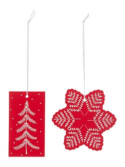 Set of 8 Scandi tree & Snowflake Gift