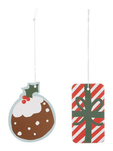 Linea Set of 8 Pudding & Present Gift Tags