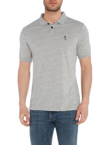 Religion Regular fit skeleton logo short sleeve polo