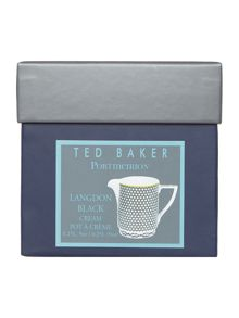Ted Baker Langdon Black Covered Sugar Bowl