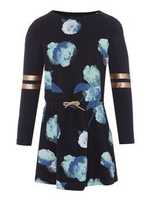 name it Girls Sweat all over Floral Print dress