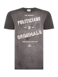 Vivienne Westwood Regular fit politicians printed t shirt
