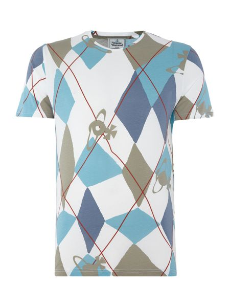 Vivienne Westwood Regular fit harlequin diamond print t shirt