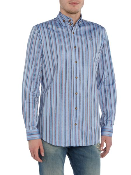 Vivienne Westwood Slim fit striped logo shirt