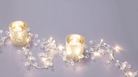 Linea Crystal light up 1.8m garland