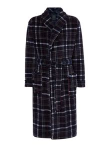 Howick Printed Check Fleece Robe