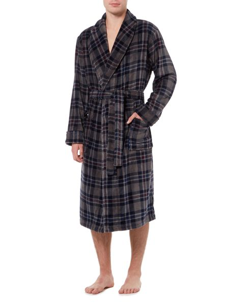 Howick Grey Check Dressing Gown