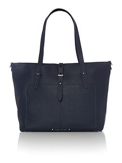 Austyn navy medium tote bag