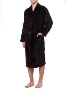 Howick Classic Check Textured Fleece Robe