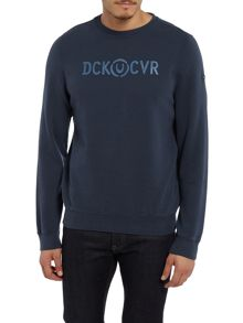 Duck and Cover Radar crew neck sweat