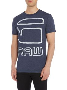 G-Star Dromec regular fit outline logo print t shirt