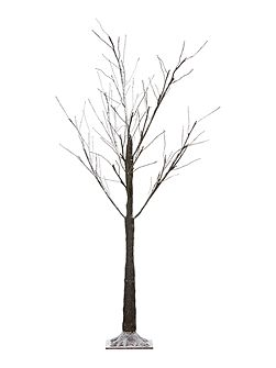 1.2m Snow dusted tree with dark bark