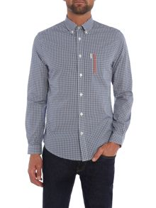 Ben Sherman Tipped Pocket Gingham Long Sleeve Shirt