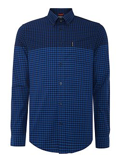 Engineered gingham shirt