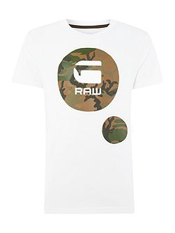 Warth regular fit camoflague logo print t shirt