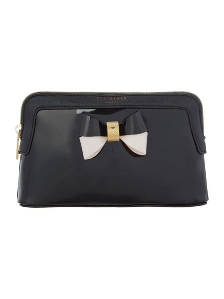 Ted Baker Rosamm bowcon black small cosmetic bag
