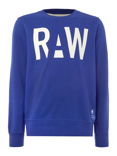 G-Star Sagor raw print crew neck sweat top