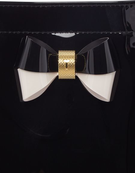 Ted Baker Minacon black small bow tote bag