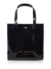 Ted Baker Elacon black large bow tote bag