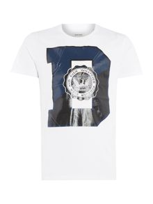 Diesel Regular Slim Fit D Logo Printed T Shirt